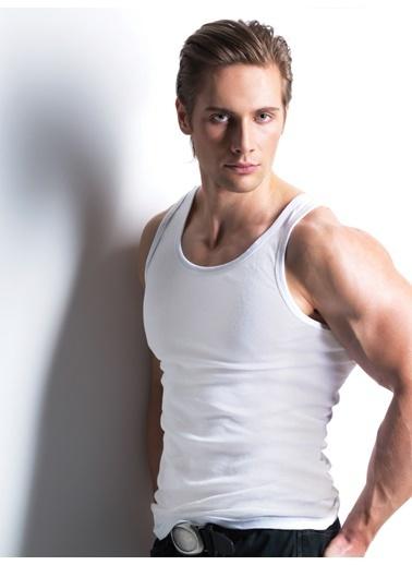 Miorre Erkek Kaşkorse Atlet Beyaz